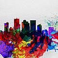 Phoenix Watercolor Skyline 2 by Naxart Studio
