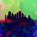Pittsburgh Watercolor Skyline by Naxart Studio