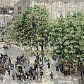 Place Du Theatre Francais by Camille Pissarro