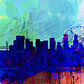 Portland Watercolor Skyline by Naxart Studio
