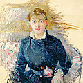 Portrait Of Louise Riesener by Berthe Morisot