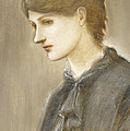 Portrait Of Mrs William J Stillman Nee Marie Spartali by Sir Edward Coley Burne Jones