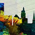 Providence City Skyline by Naxart Studio