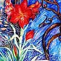 Red Amaryllis  by Trudi Doyle