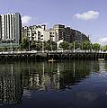 River Nervion Panorama by John Gaffen