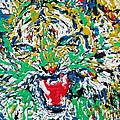 Roaring Enamel Tiger by Fabrizio Cassetta