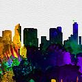 San Diego City Skyline by Naxart Studio