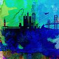 San Francisco Watercolor Skyline 2 by Naxart Studio