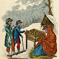 Selling Hot Spiced Apples In  Winter by Mary Evans Picture Library