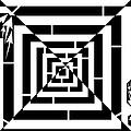 Spin Art Off Set Targeting Maze  by Yonatan Frimer Maze Artist