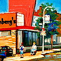 Steinbergs Grocery Store Paintings Vintage Montreal Art Order Prints Originals Commissions Cspandau by Carole Spandau