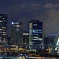 Supermoon In Sao Paulo - Brazil Skyline by Carlos Alkmin