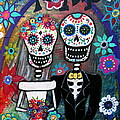 Te Amo Wedding Dia De Los Muertos by Pristine Cartera Turkus