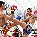 Thai Boxing Match by Anek Suwannaphoom