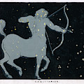 The Constellation Of  Sagittarius by Mary Evans Picture Library