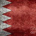 The Flag Of The Kingdom Of Bahrain Vintage Version by Bruce Stanfield