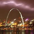 Thunderstorm Over The Arch by Garry McMichael