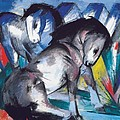 Two Horses by Franz Marc