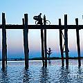 U Bein Bridge At Amarapura -  Myanmar by Luciano Mortula