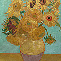Vase With Twelve Sunflowers by Vincent van Gogh