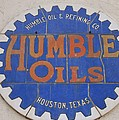 Vintage Humble Oils Sign Jefferson Texas by Donna Wilson