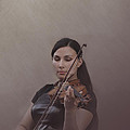 Violinist by Guna Andersone
