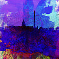 Washington Dc Watercolor Skyline 2 by Naxart Studio