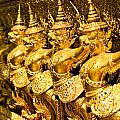 Wat Phra Kaeo Temple - Bangkok - Thailand.  by Luciano Mortula