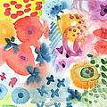 Watercolor Garden by Linda Woods