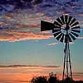 Windmill At Dawn by David and Carol Kelly