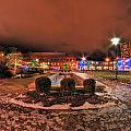 0010 Christmas Light Show At Roswell Series by Michael Frank Jr