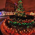 0011 Christmas Light Show At Roswell Series by Michael Frank Jr