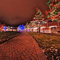 002 Christmas Light Show At Roswell Series by Michael Frank Jr