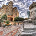 003 Sleeping Lions City Hall View  by Michael Frank Jr