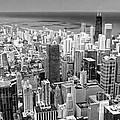 0036 Chicago Skyline Black And White by Steve Sturgill