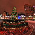 004 Christmas Light Show At Roswell Series by Michael Frank Jr