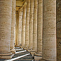 0056 Roman Pillars St. Peter's Basilica Rome by Steve Sturgill