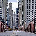 0525 Lasalle Street Bridge Chicago by Steve Sturgill