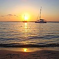 0531 Sailboats At Sunset On Sound by Jeff at JSJ Photography