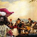 Irish Water Spaniel Art Canvas Print by Sandra Sij