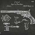 1839 Colt Fire Arm Patent Artwork - Gray by Nikki Marie Smith