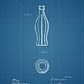 1915 Coca Cola Bottle Design Patent Art 3 by Nishanth Gopinathan