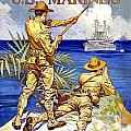 1917 - United States Marines Recruiting Poster - World War One - Color by John Madison