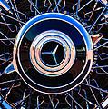 1939 Mercedes-benz 540k Special Roadster Wheel Rim Emblem by Jill Reger