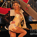 1940s Style Aviator Pin-up Girl Posing by Christian Kieffer