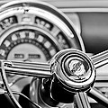 1949 Chrysler Town And Country Convertible Steering Wheel Emblem by Jill Reger