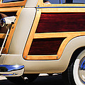 1950 Ford Custom Deluxe Station Wagon Rear End - Woodie by Jill Reger