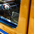 1950 Ford Custom Deluxe Woodie Station Wagon Steering Wheel Emblem by Jill Reger