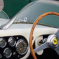 1953 Ferrari 340 Mm Lemans  Spyder Steering Wheel Emblem by Jill Reger