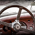 1954 Jaguar Xk120 Roadster Steering Wheel Emblem by Jill Reger
